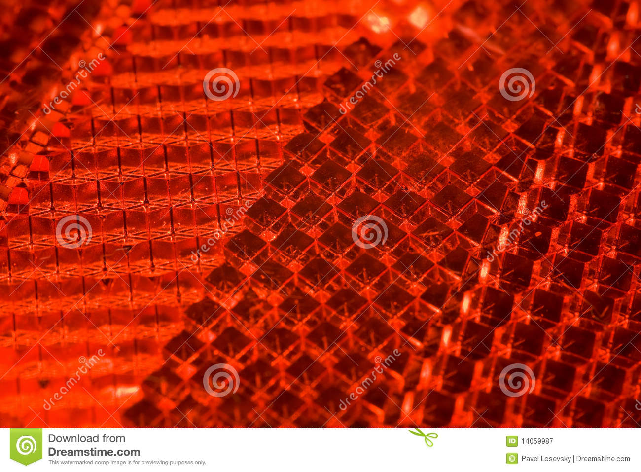Bright Red Textural Pattern, Fragment Of Cataphot Royalty Free Stock Photography