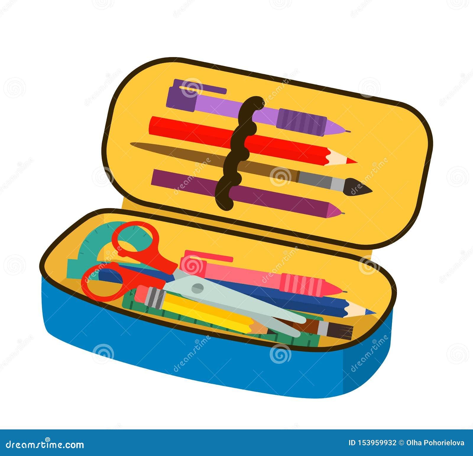 A pencil case Clipart   k13470655   Fotosearch