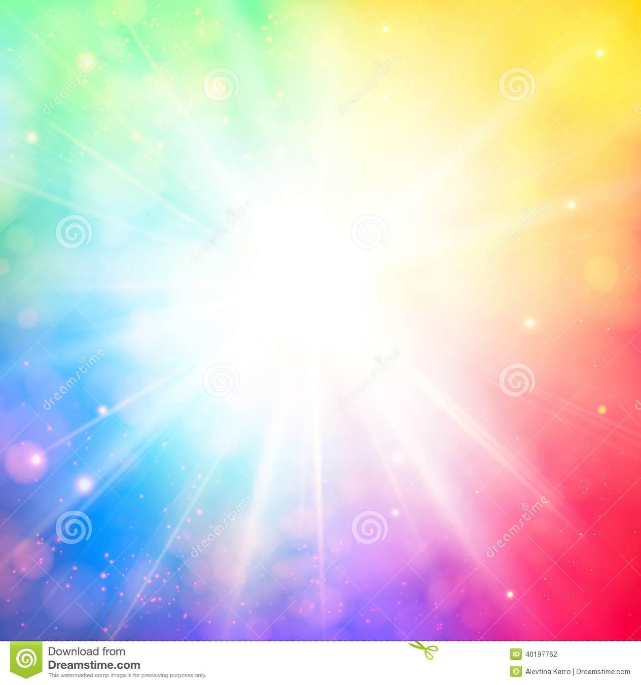bright shining sun with lens flare  soft background with bokeh e stock vector