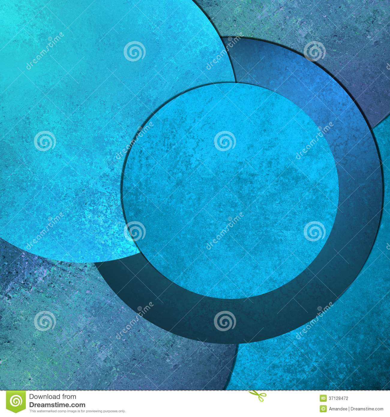 Bright Sky Blue Abstract Background Image With Cool Round Circle