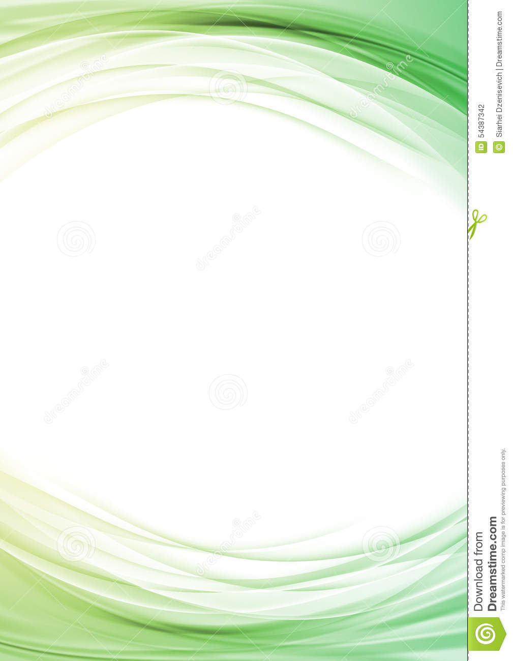 Bright Soft Line Border Certificate Layout Stock Vector