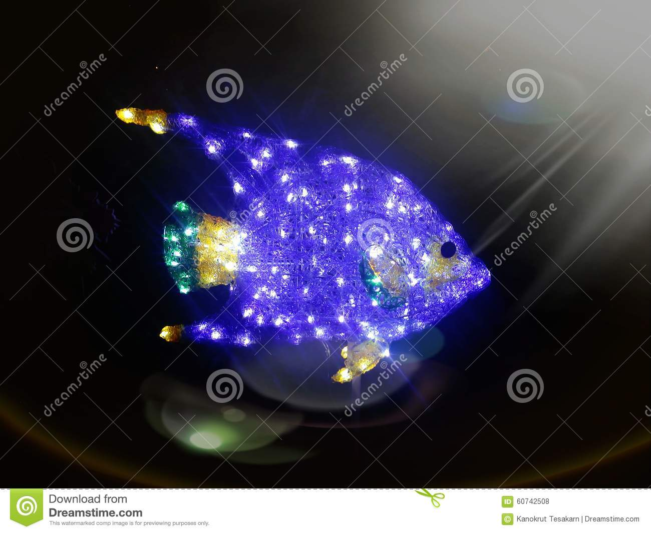 bright sparkling blue fish in dark ocean under above sun light, Reel Combo