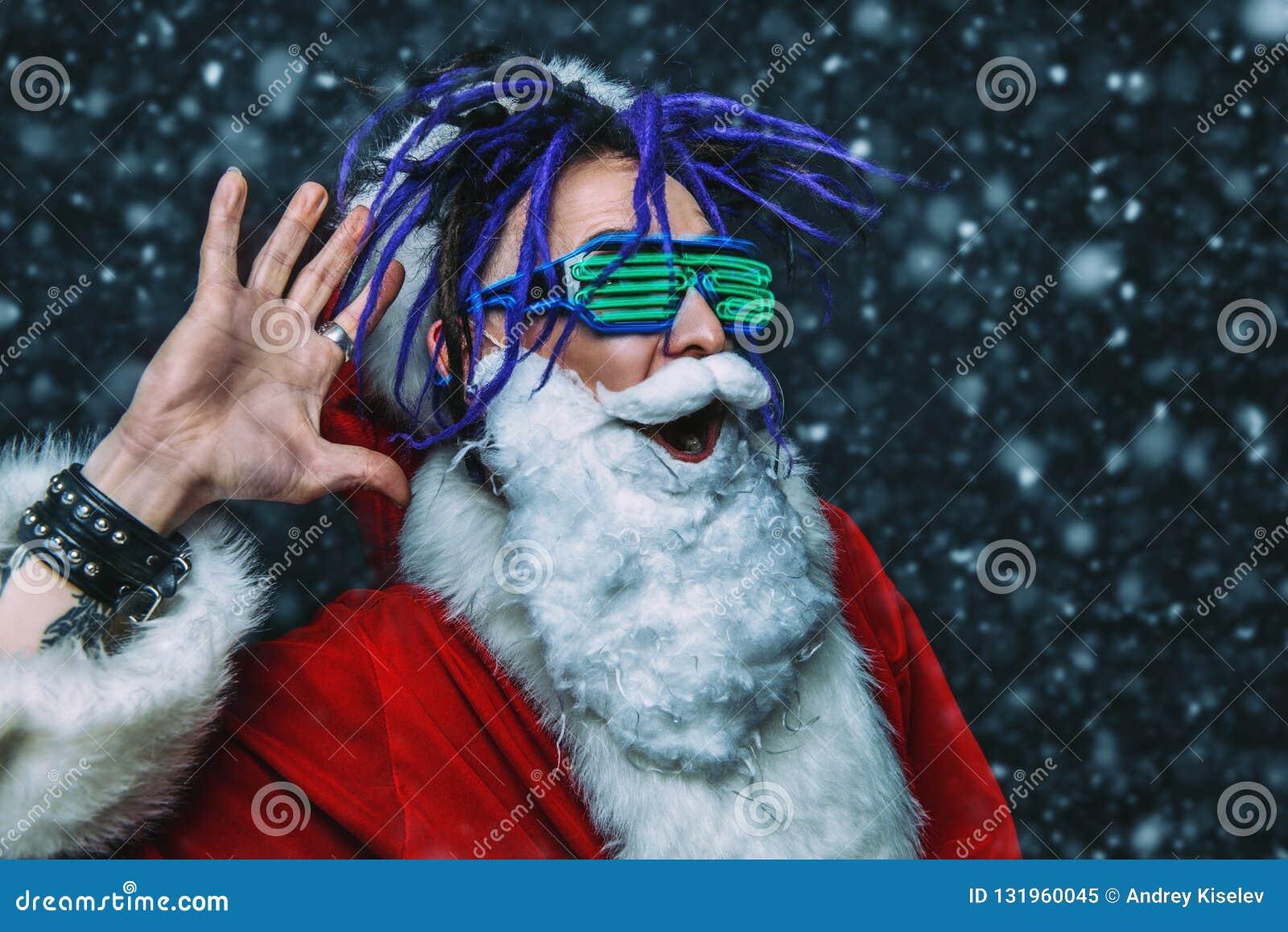 Bright stylish santa