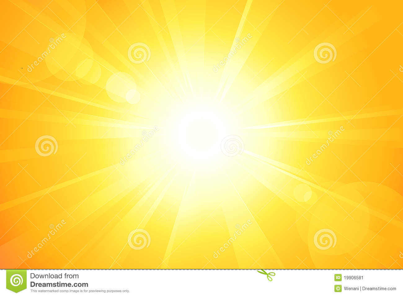 Bright Sun With Lens Flare Stock Image Image 19906581