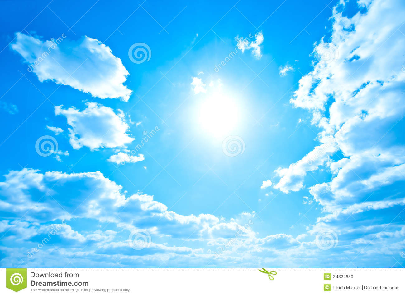 Bright Sun And Sky Stock Photo Image Of Solar Blue