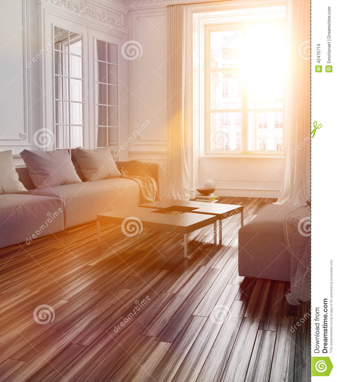Bright sunlight streaming into a living room stock for Sunlight windows