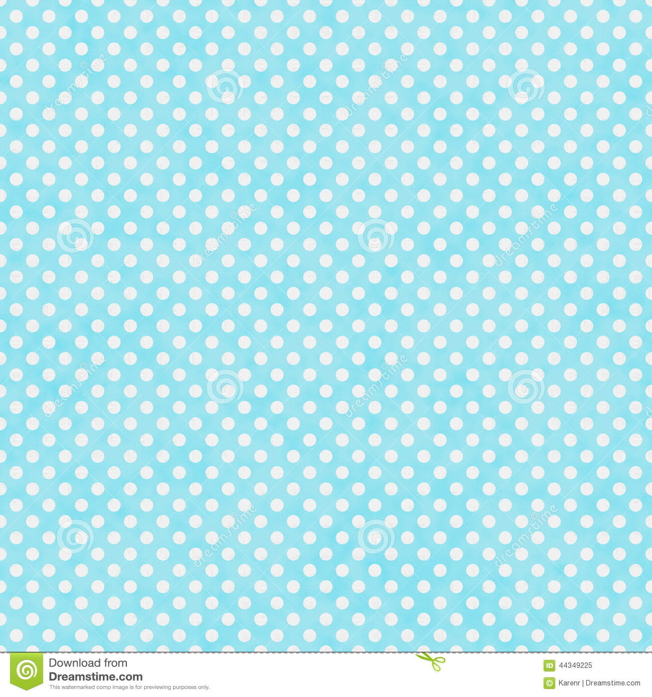 Bright Teal And White Small Polka Dots Pattern Repeat