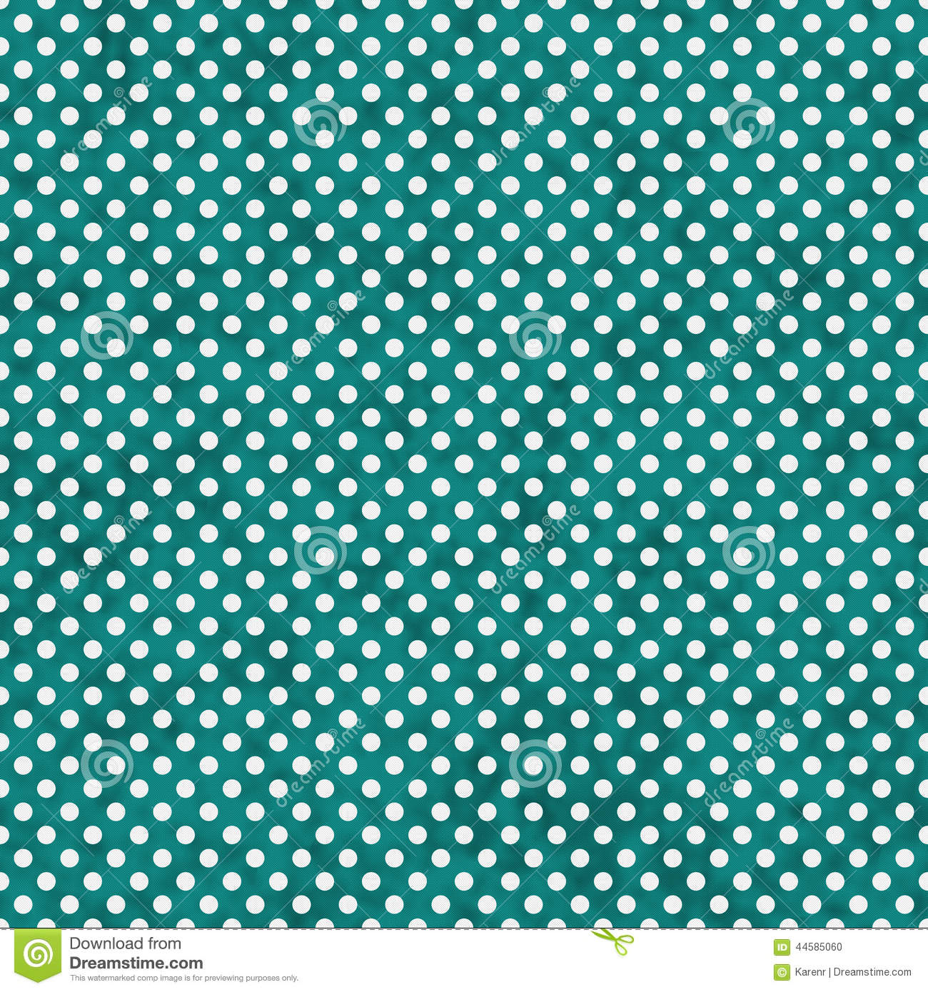 Bright Teal And White Small Polka Dots Pattern Repeat ...