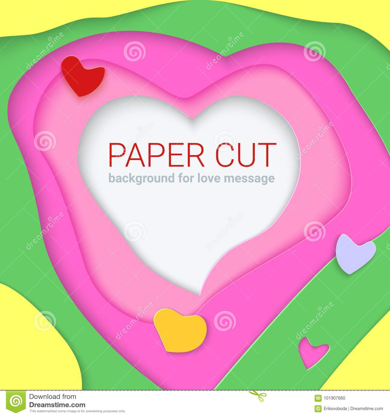 Bright Templates With Paper Cut Shapes Modern Abstract Design 3d