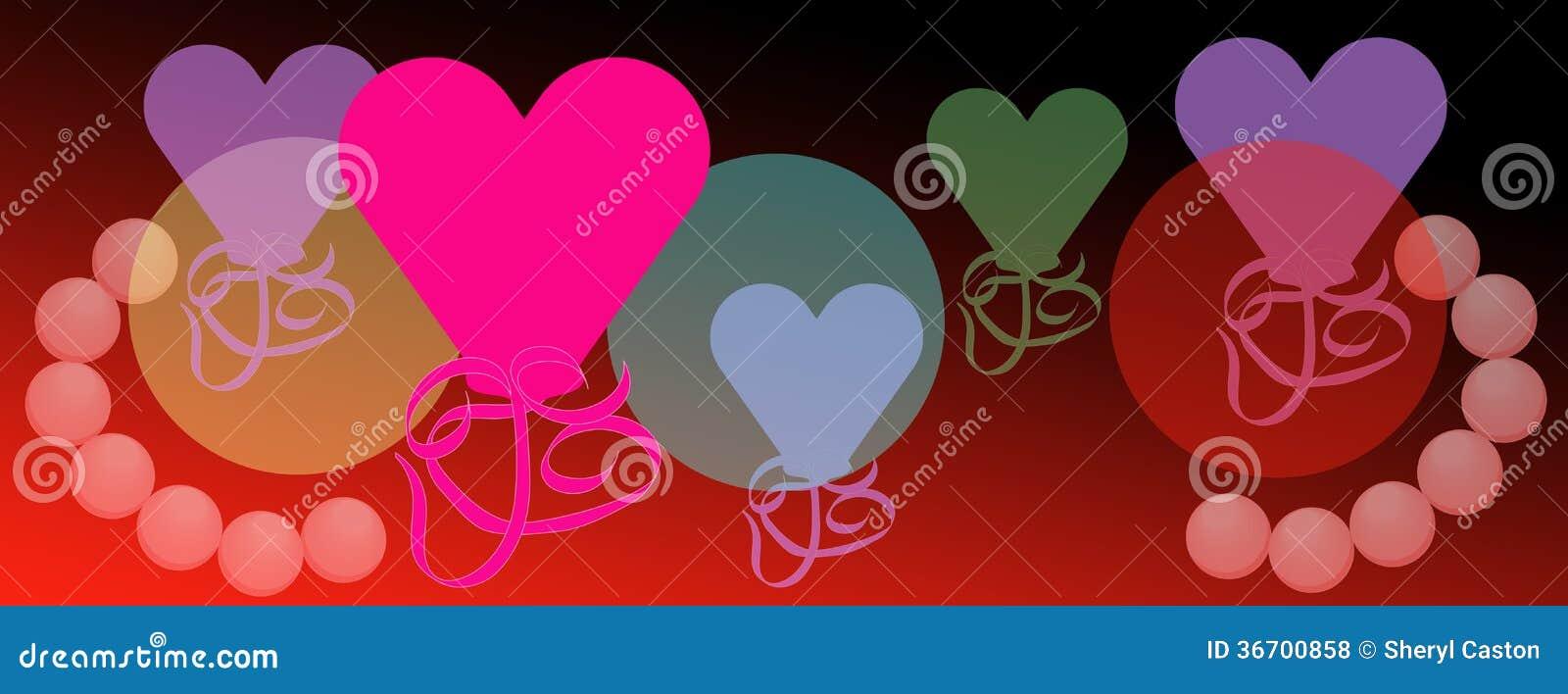 Bright Valentine Hearts Celebration Of Love Background