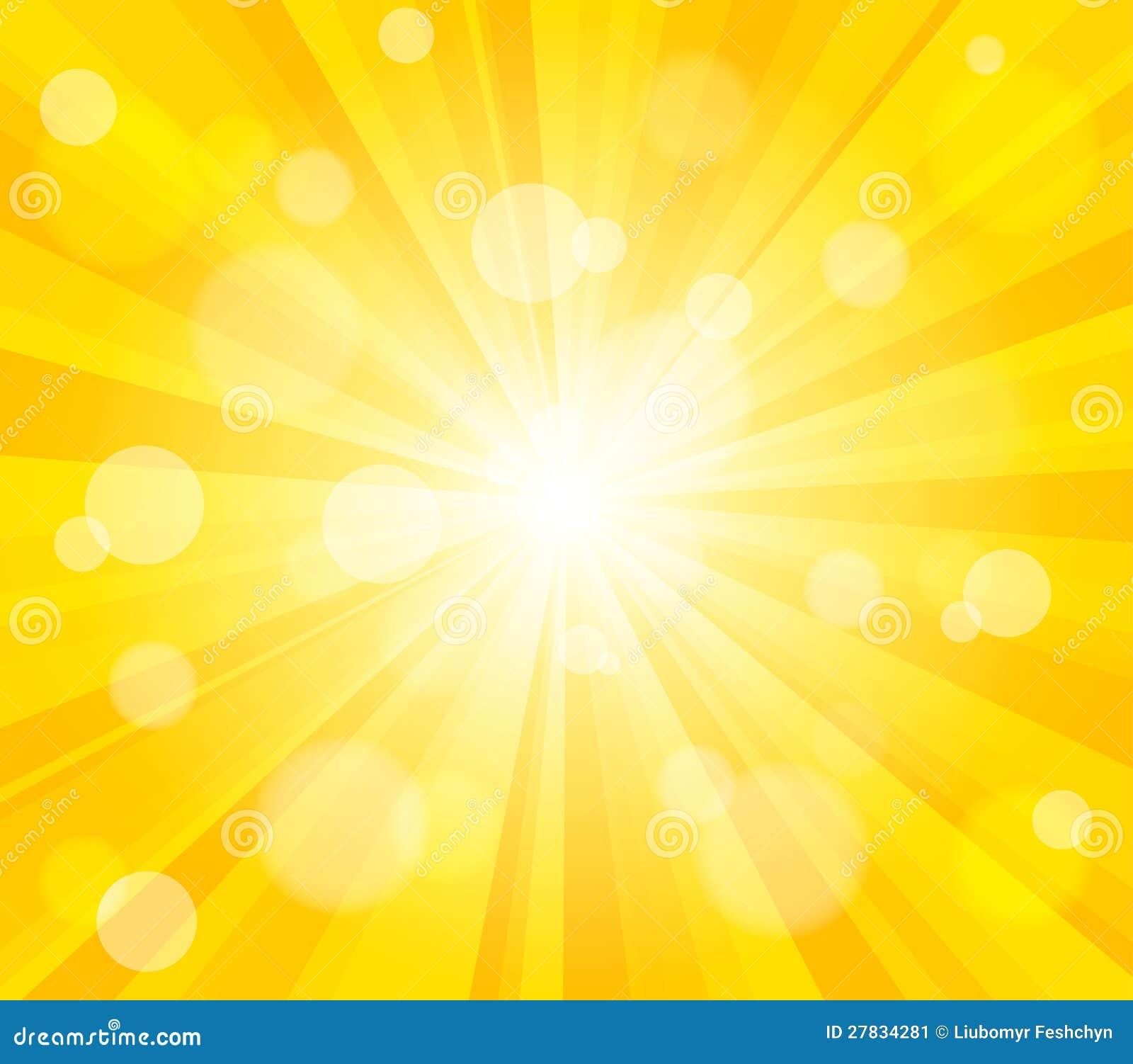 Bright Vector Sun Effect Background Illustration 27834281 - Megapixl