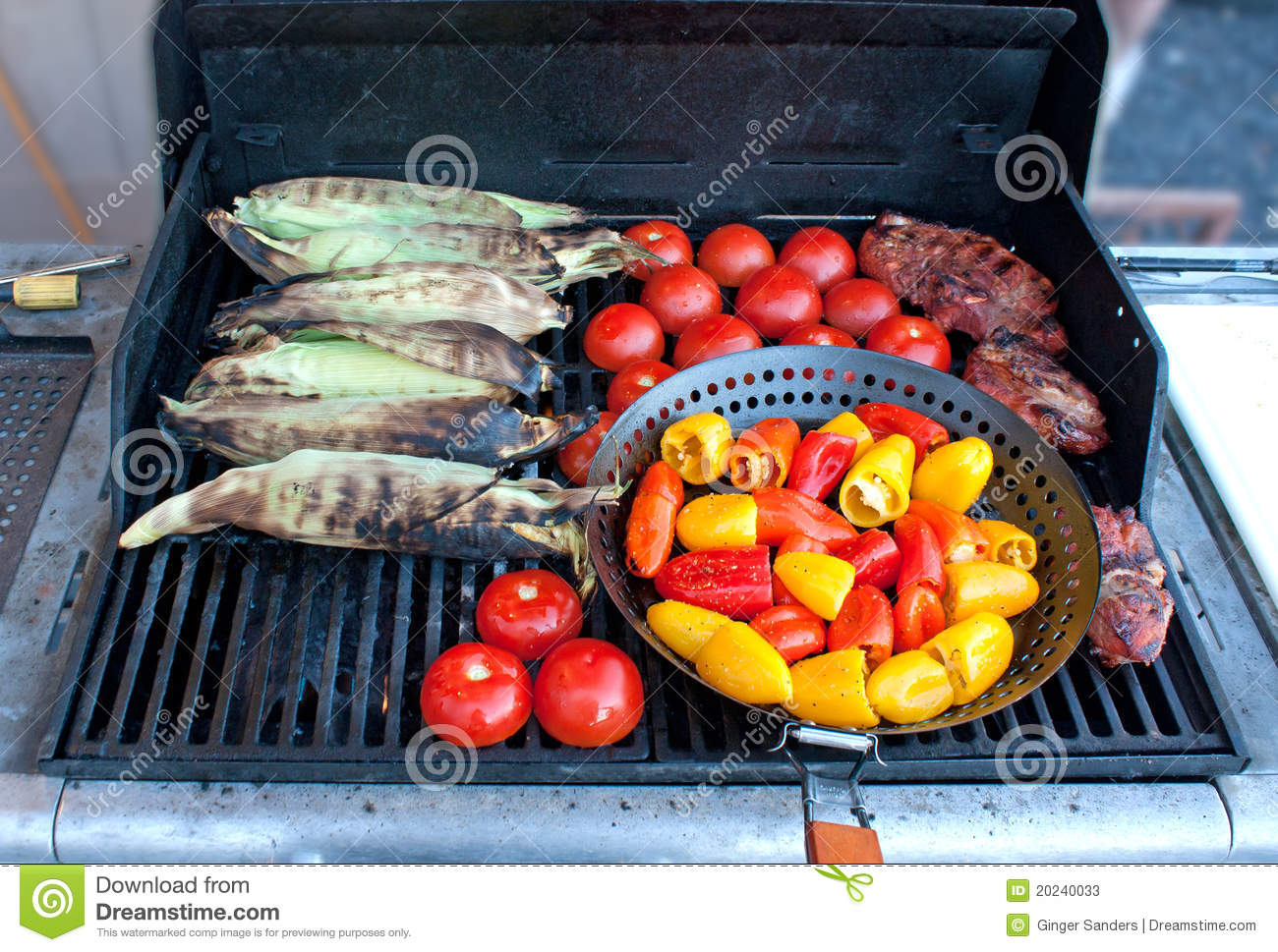 Bright Vegetables on A Barbeque Grill