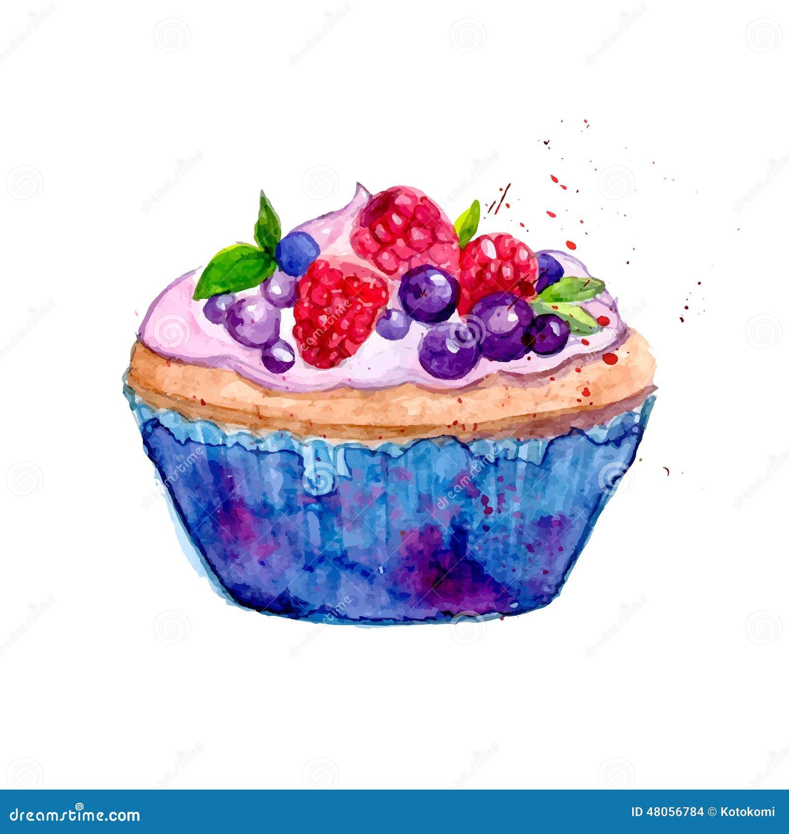 Blue Watercolor Cake
