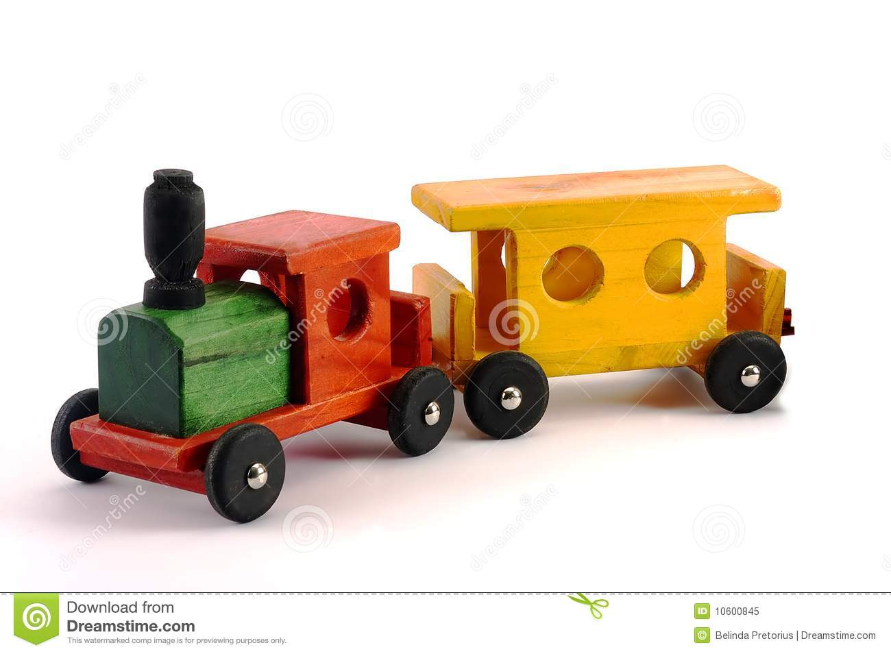 Bright Wooden Toy Train Isolated Royalty Free Stock Photo - Image ...