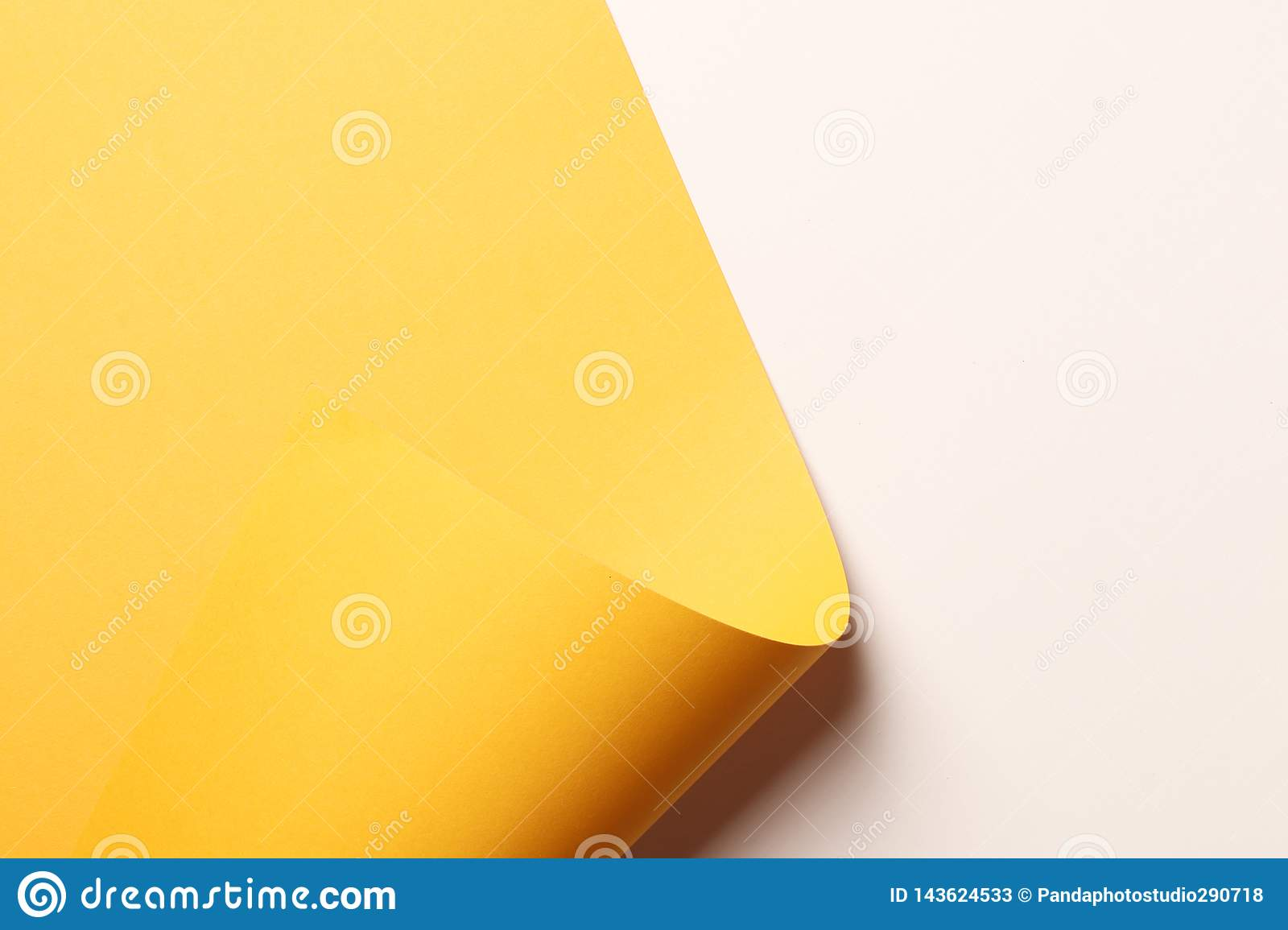 Bright yellow abstract paper background
