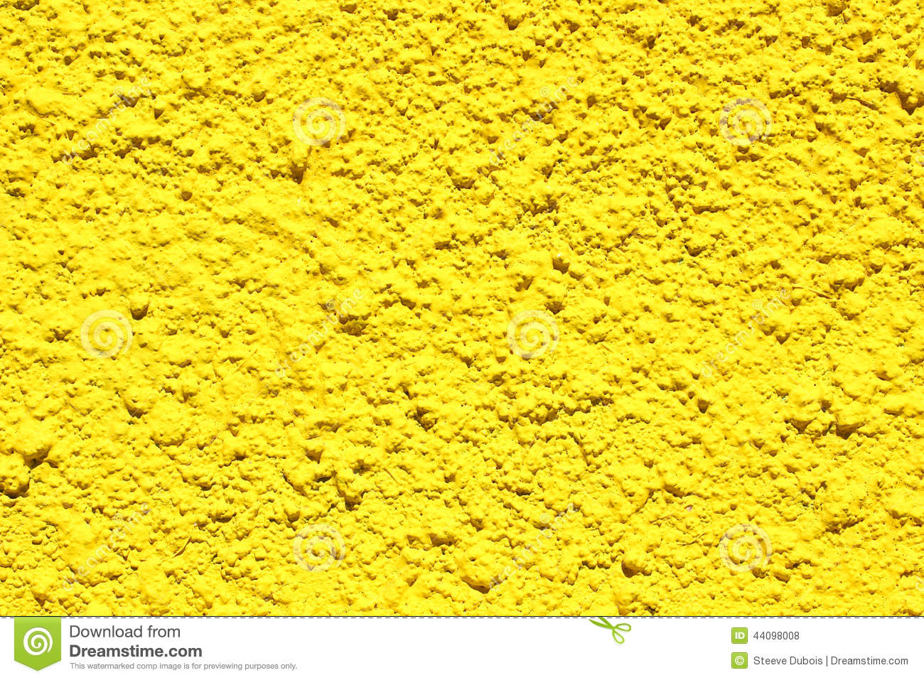 Bright Yellow Concrete Wall Stock Photo - Image: 44098008