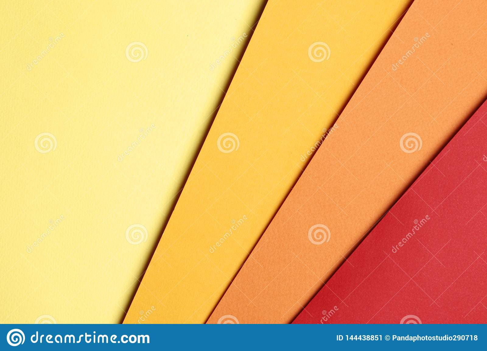 Bright yellow, orange and red abstract blank paper background
