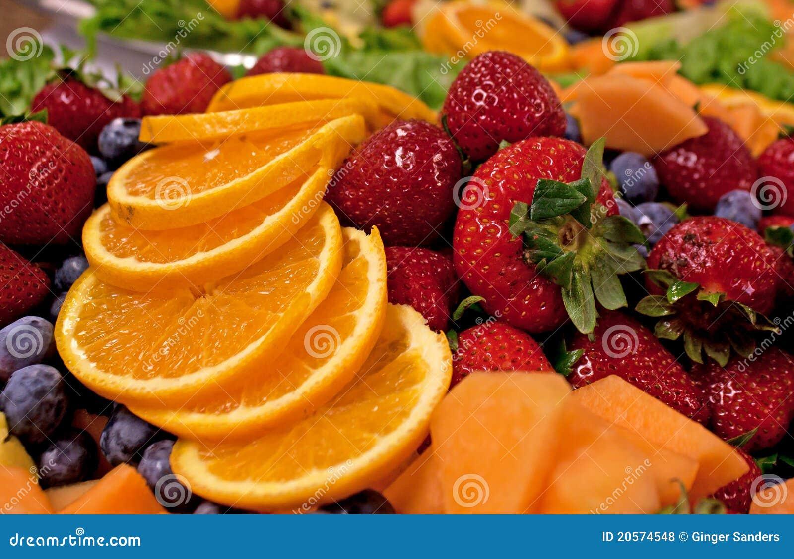 Bright Yummy Mixed Fruit Plate
