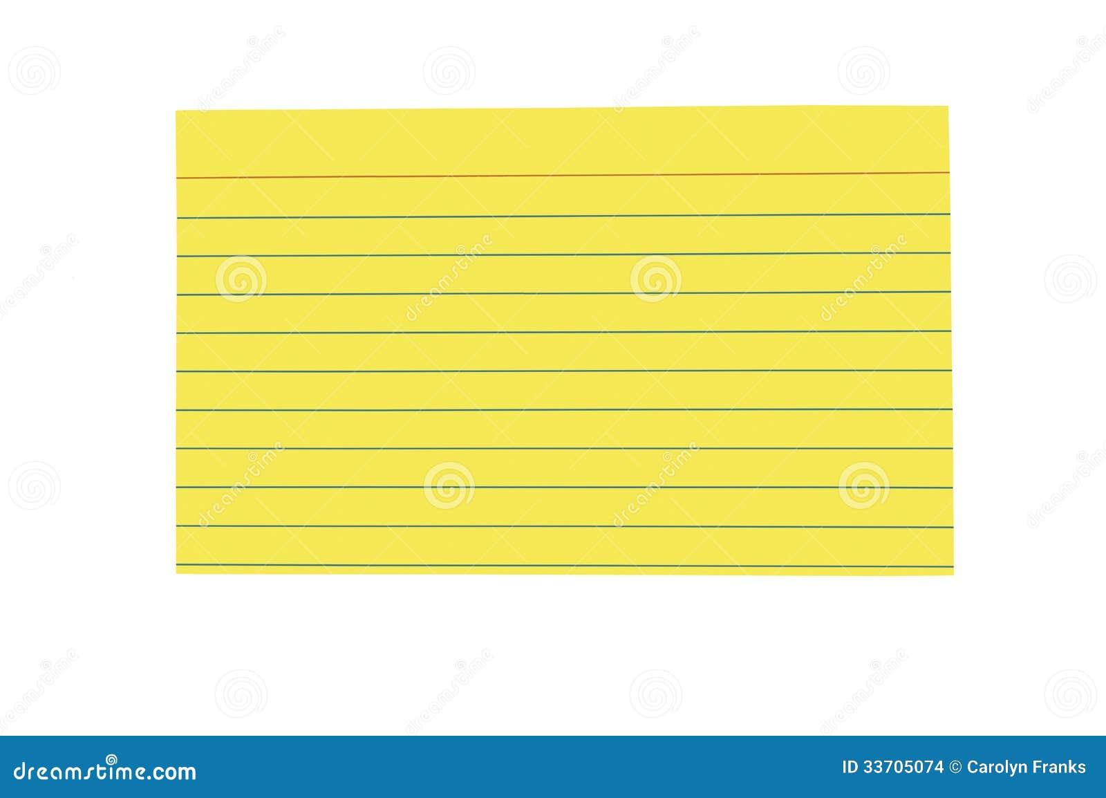 3x5 notecard