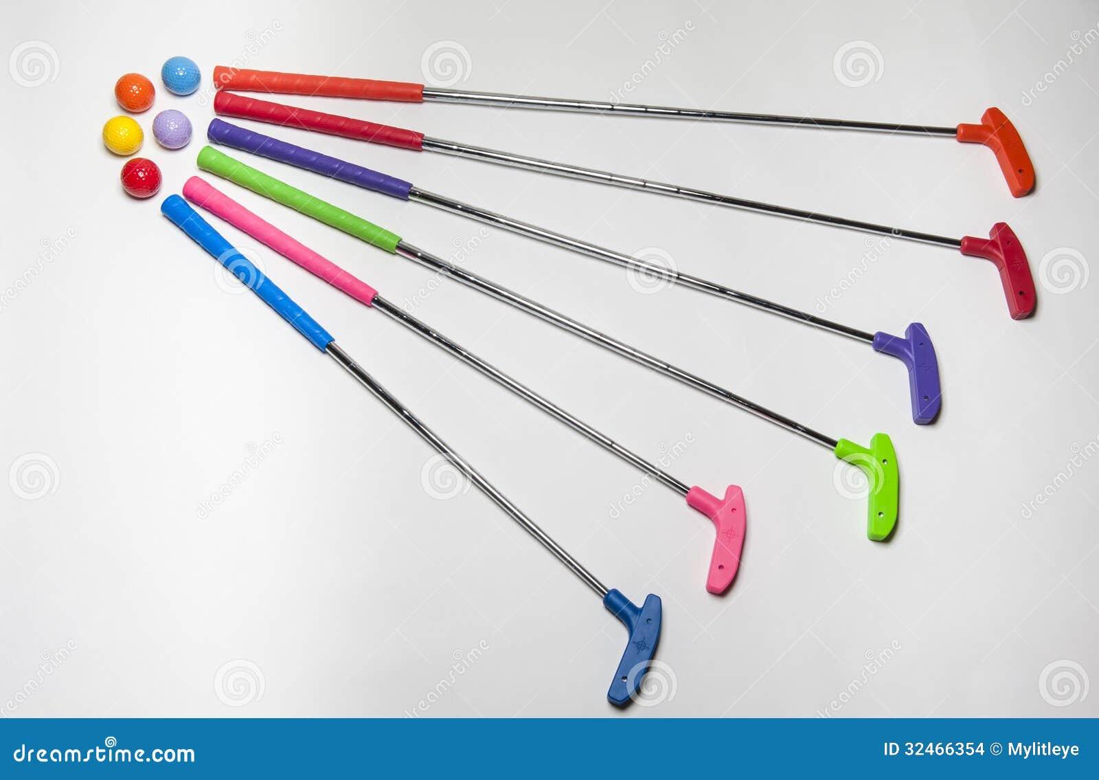 Mini Golf Putter Brightly colored Mini Golf