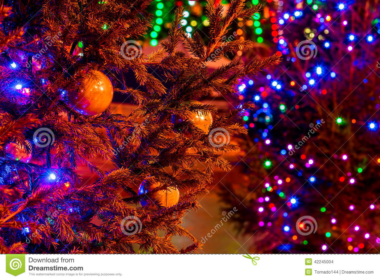 Blue Artificial Christmas Trees