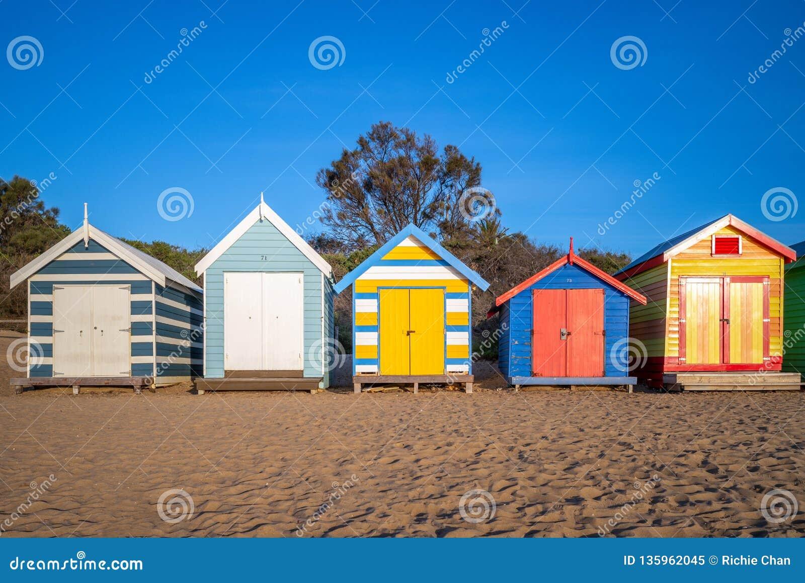 Brighton Bathing Boxes à Melbourne, Australie