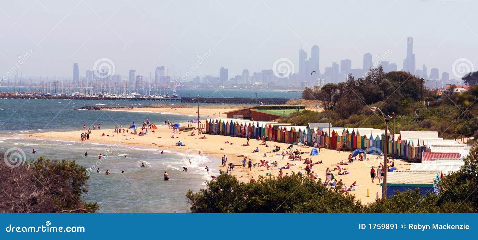 Brighton Beach Panorama Stock Image Image 1759891