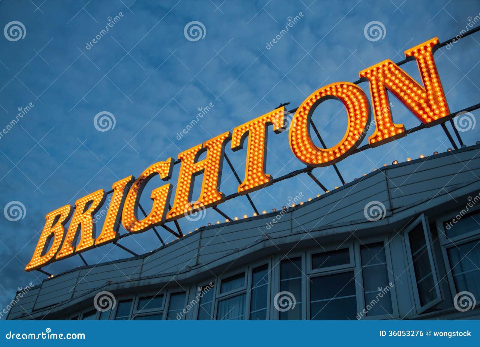Brighton Pier Lights, England UK