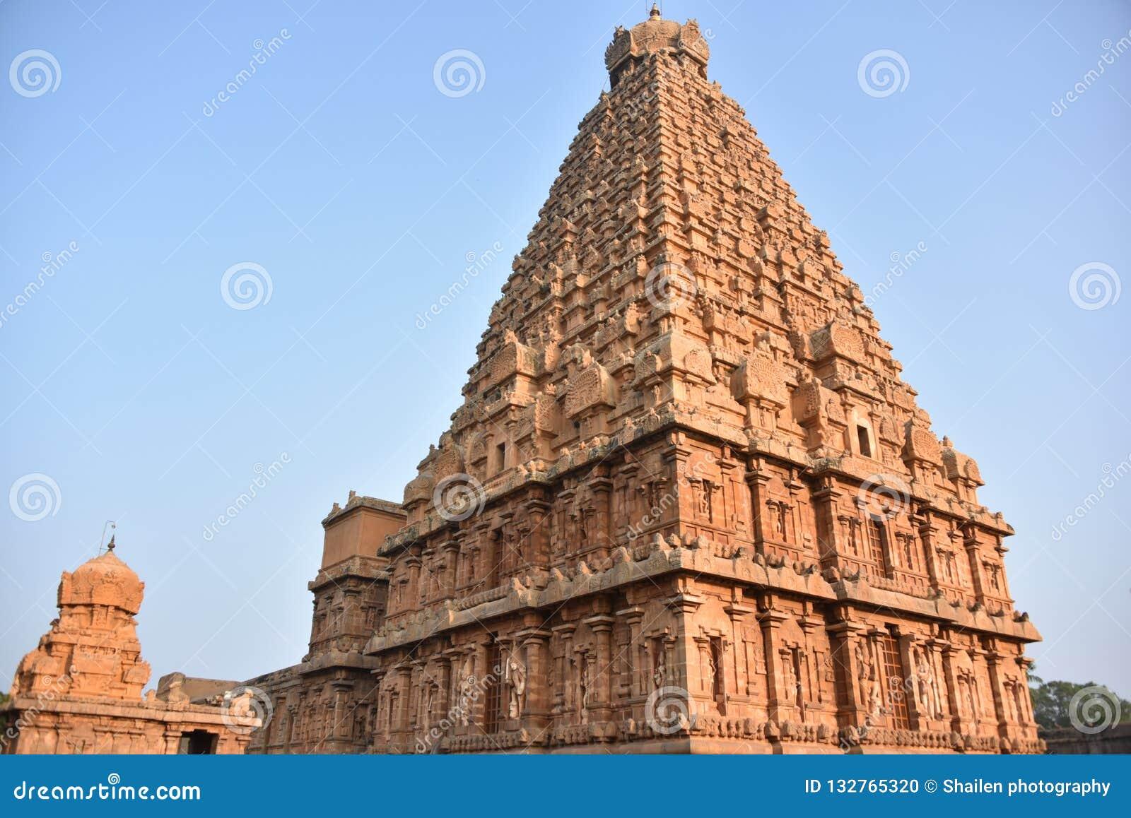 Brihadisvara Temple, Thanjavur, Tamil Nadu Stock Photo