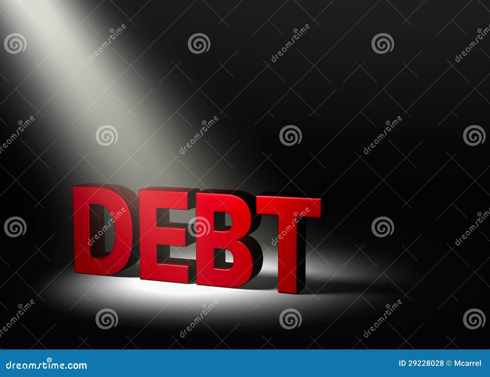 Download Brilhando Uma Luz No Débito Ilustração Stock - Ilustração de empréstimo, finanças: 29228028