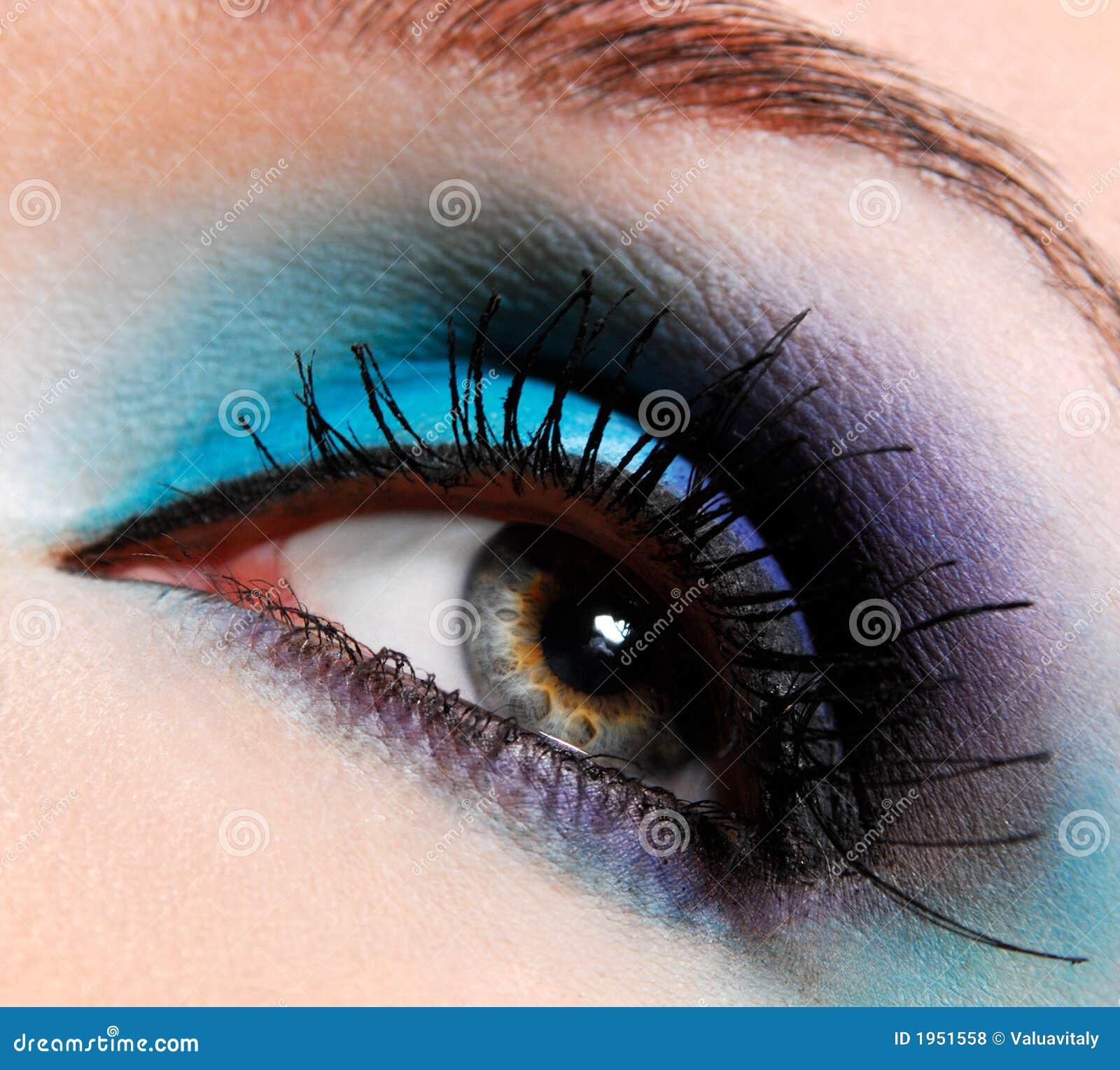 Brilhante, olho da forma