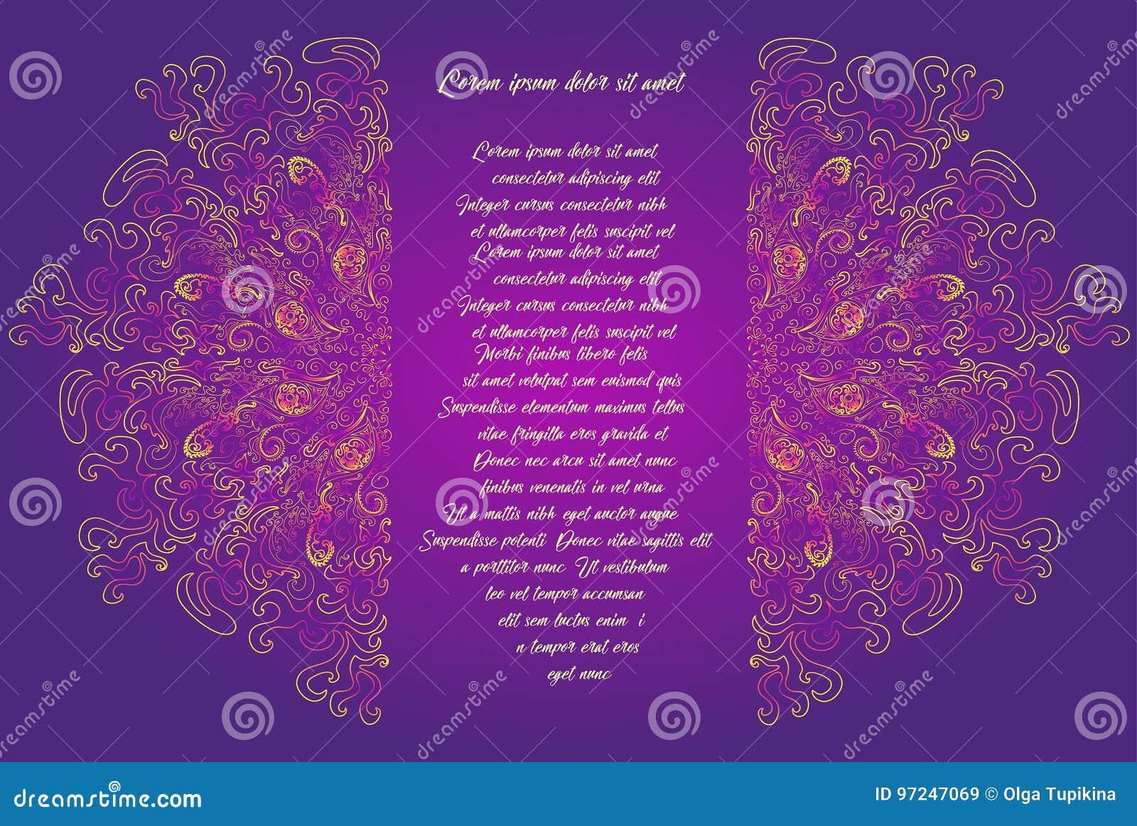 Brillante Coloreado La Flor De La Mandala Se Divide En