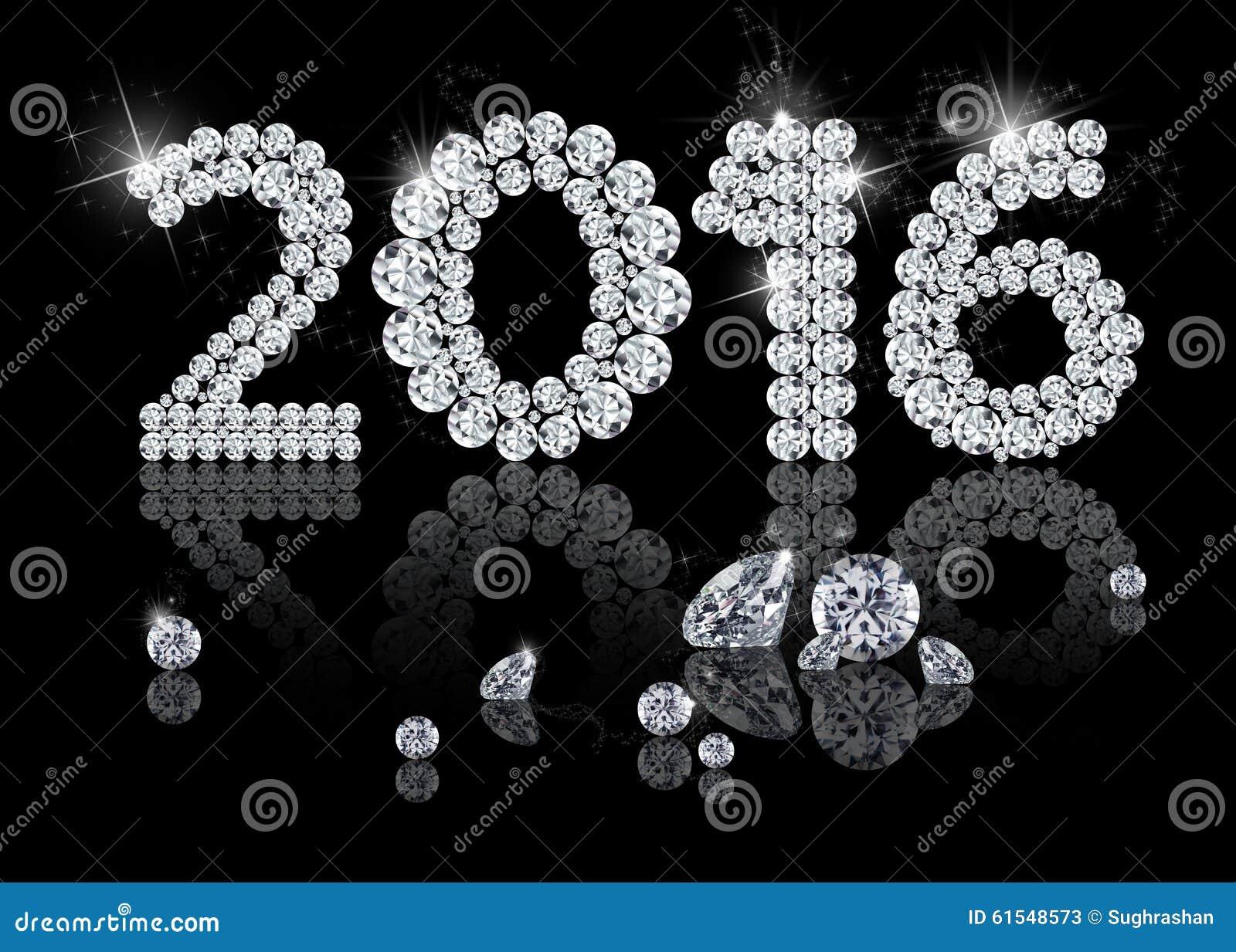 Brilliant New Year 2016 Stock Illustration Illustration