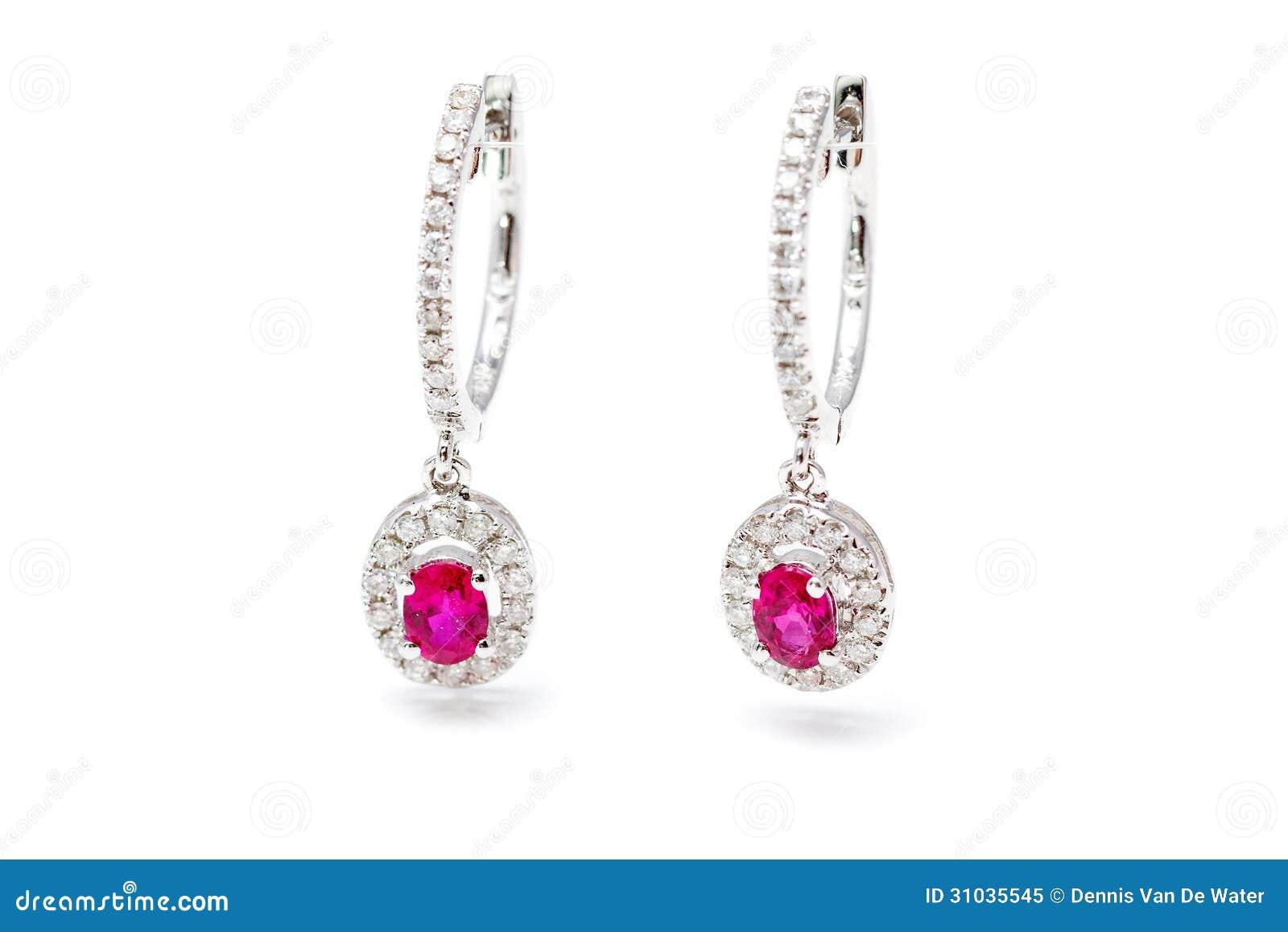 Brincos cor-de-rosa