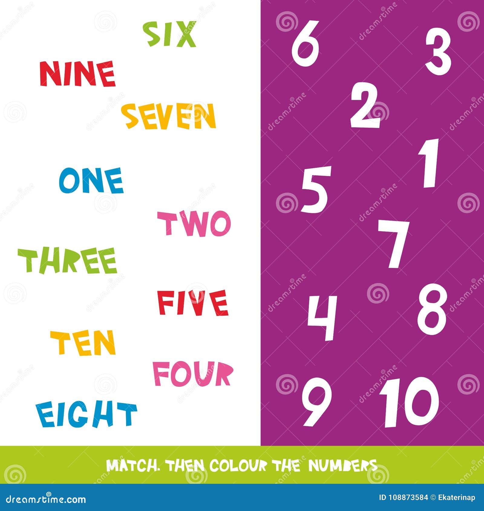 Bringen Sie Dann Farbe Die Nr. 1 Bis 10 Zusammen Kinder Fasst Das ...