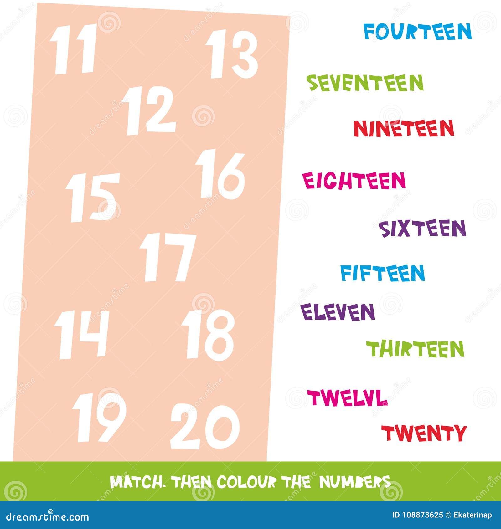 Bringen Sie Dann Farbe Die Nr. 11 Bis 20 Zusammen Kinder Fasst Das ...