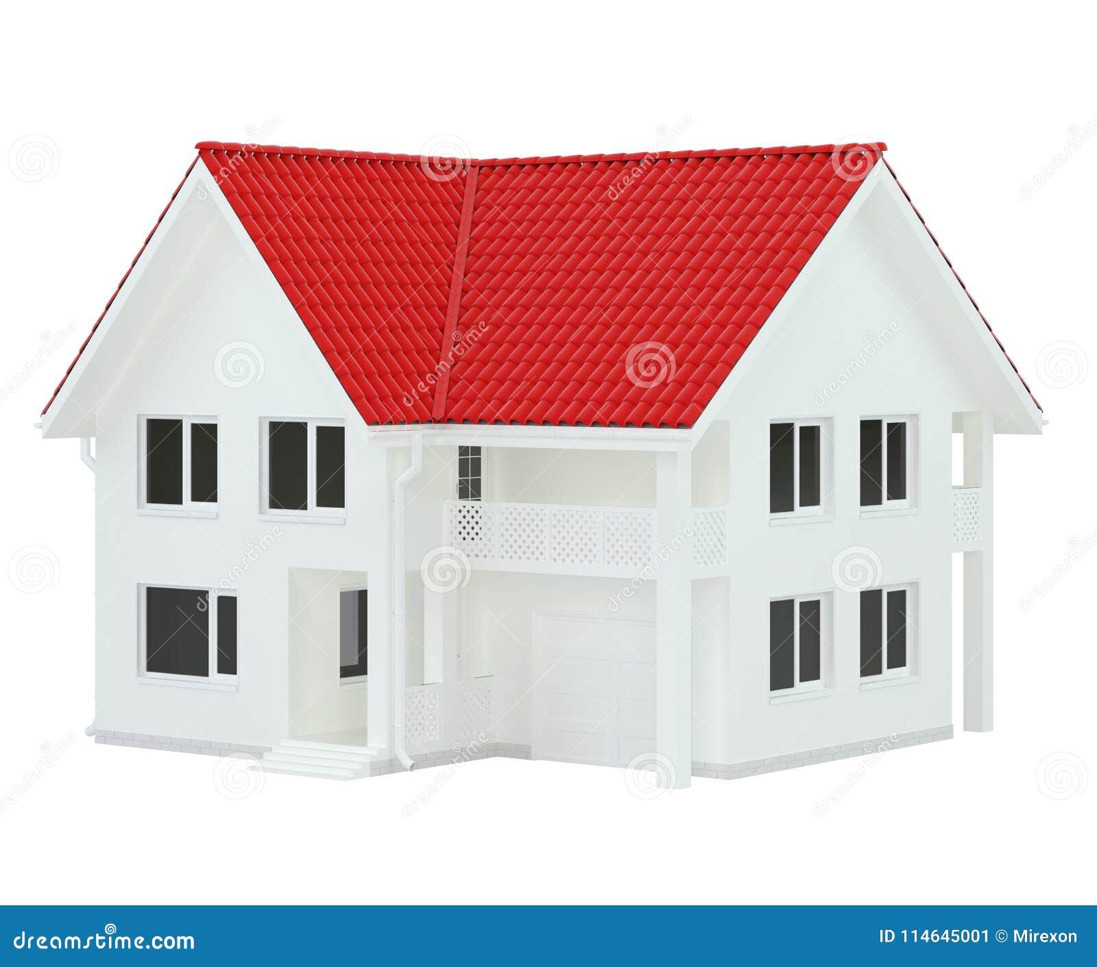 Bringen Sie Moderne Zeitgenössische Art Mit Dem Roten Dach Unter ...