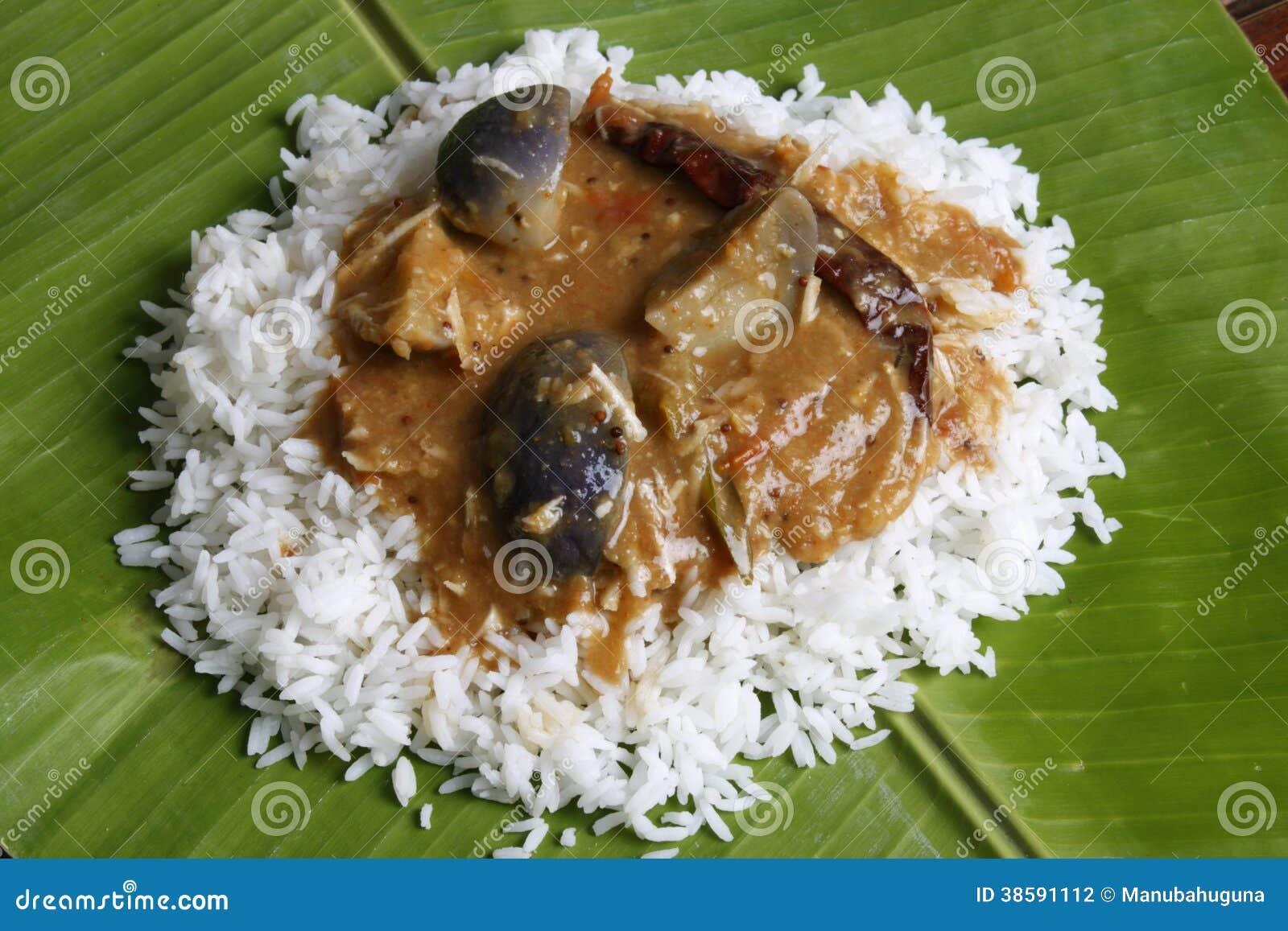 Brinjal SambarA Lentil Soup From Tamilnadu Royalty Free Stock