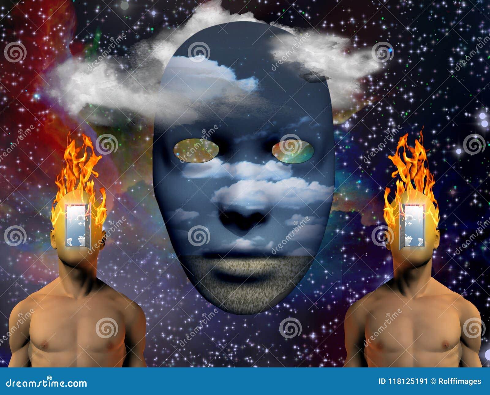 Brinnande huvud