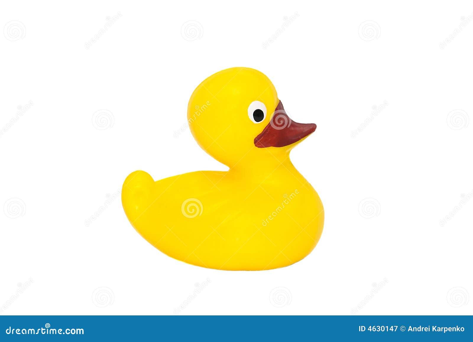 Brinquedo de borracha amarelo do pato