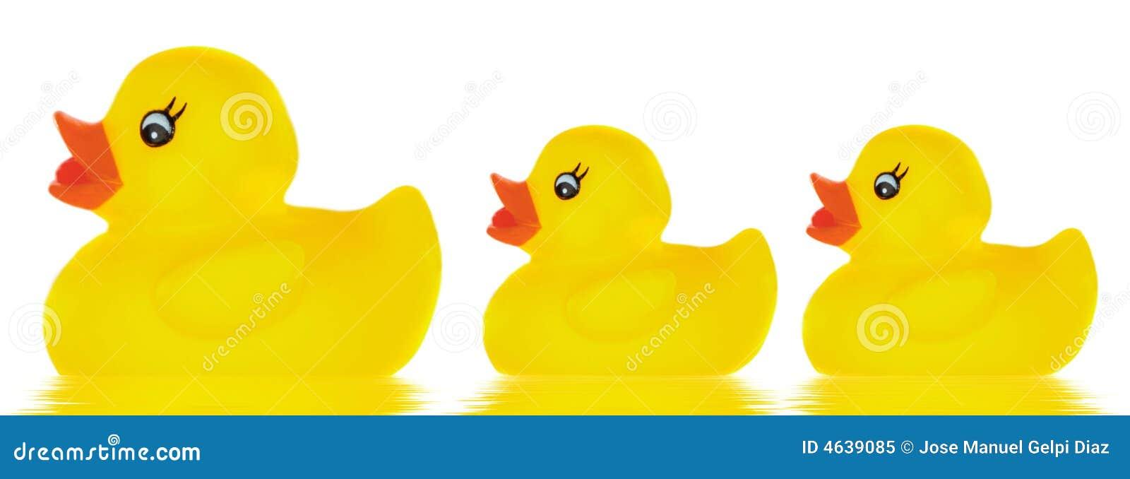 Brinquedo do pato da família