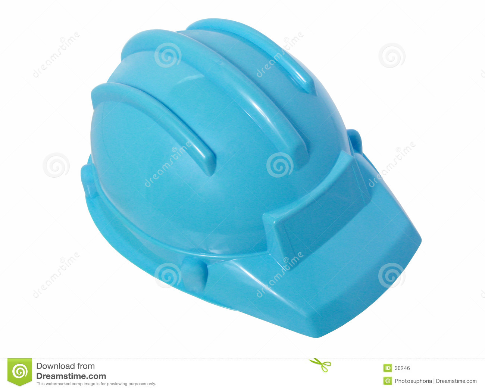 Brinquedos: Capacete plástico azul brilhante da construção