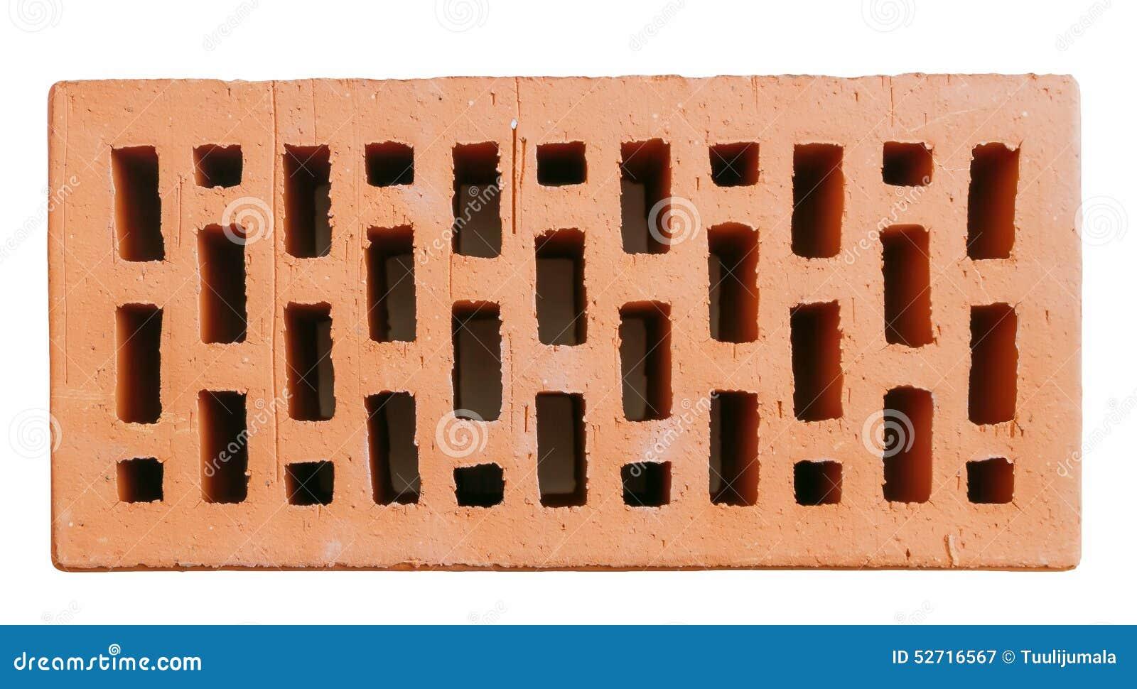 brique creuse rouge de mur image stock image du rugueux 52716567. Black Bedroom Furniture Sets. Home Design Ideas