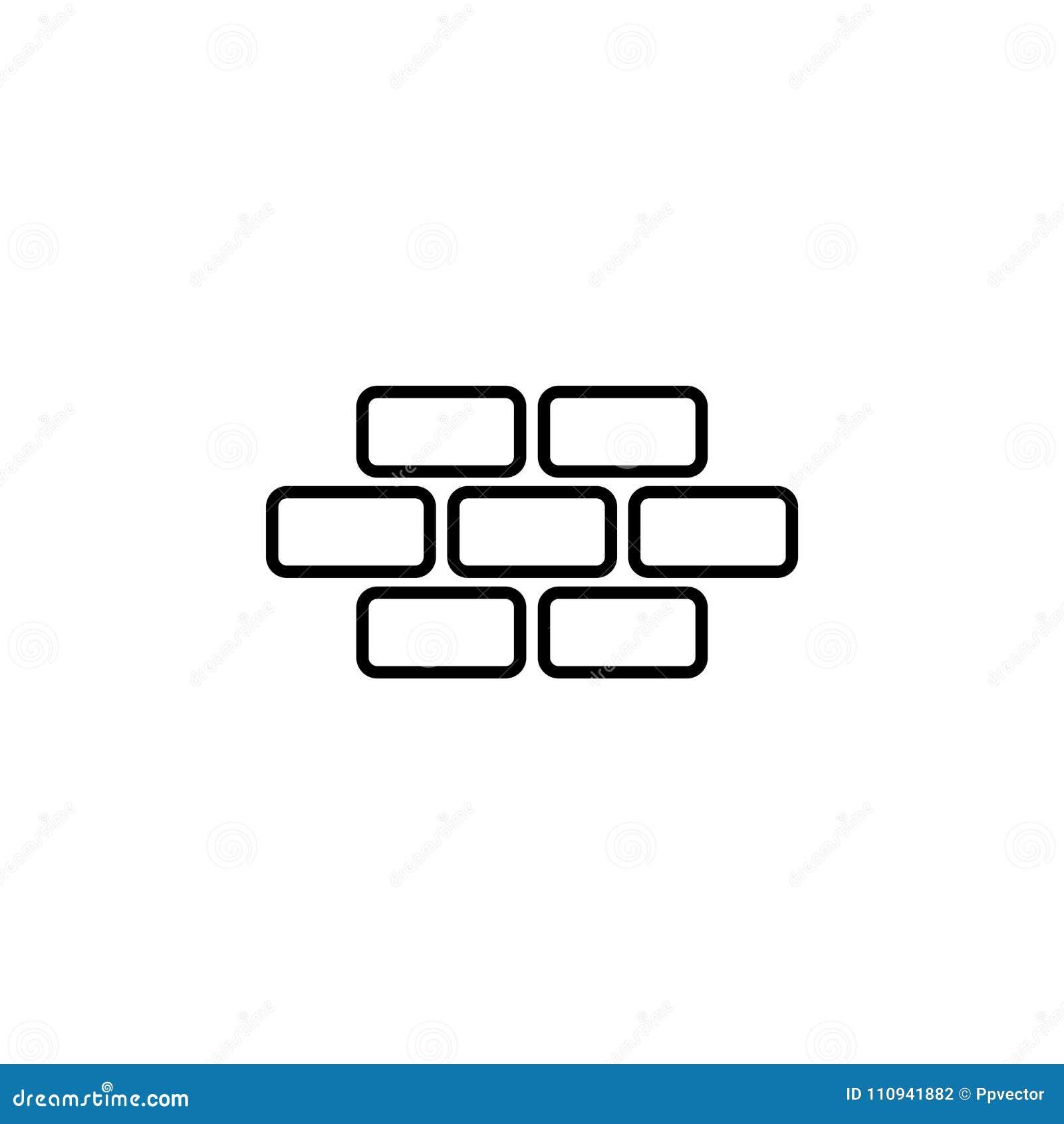 Brique de briques, maçonnerie