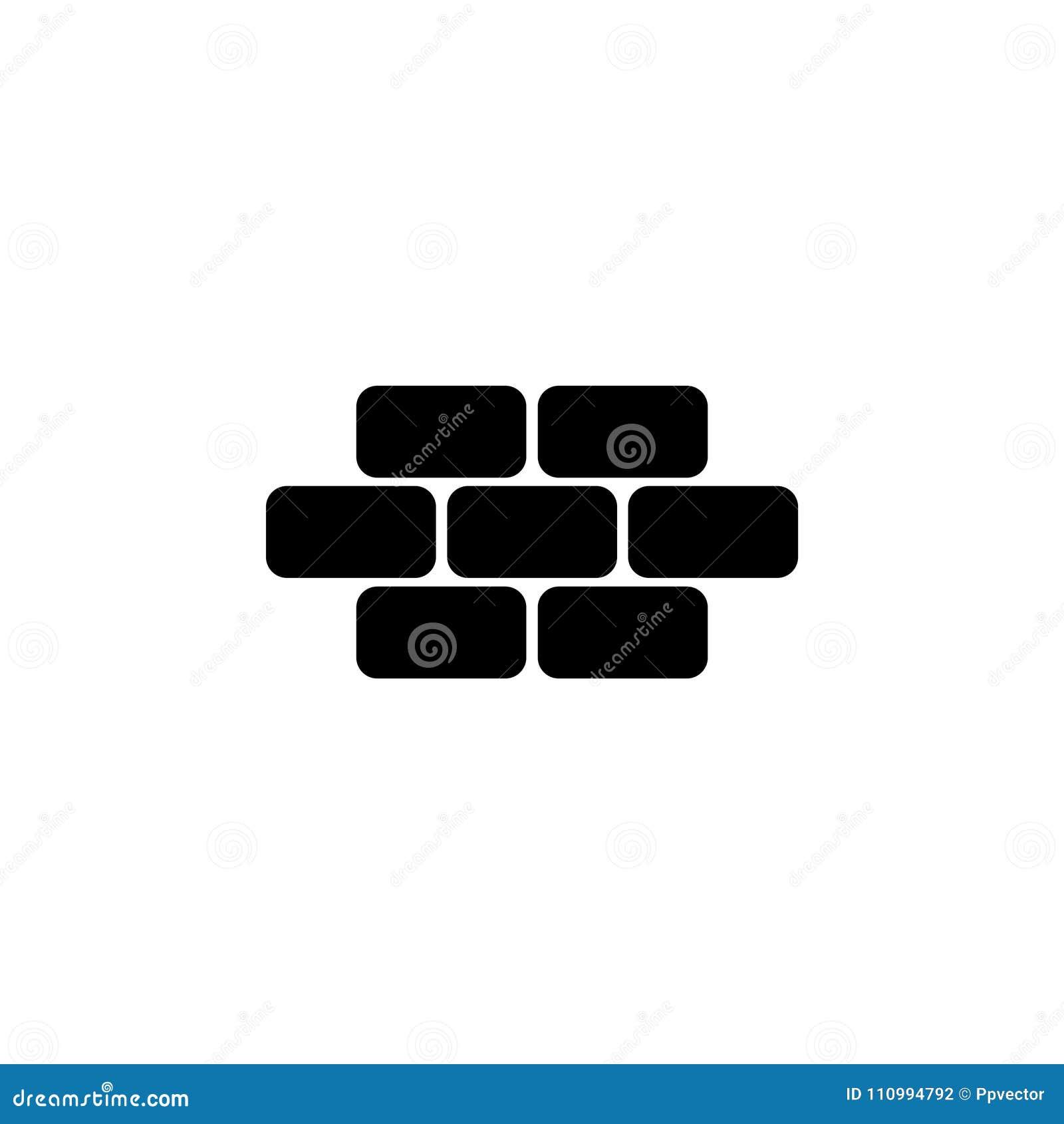 Brique de briques, maçonnerie, symbole d icône