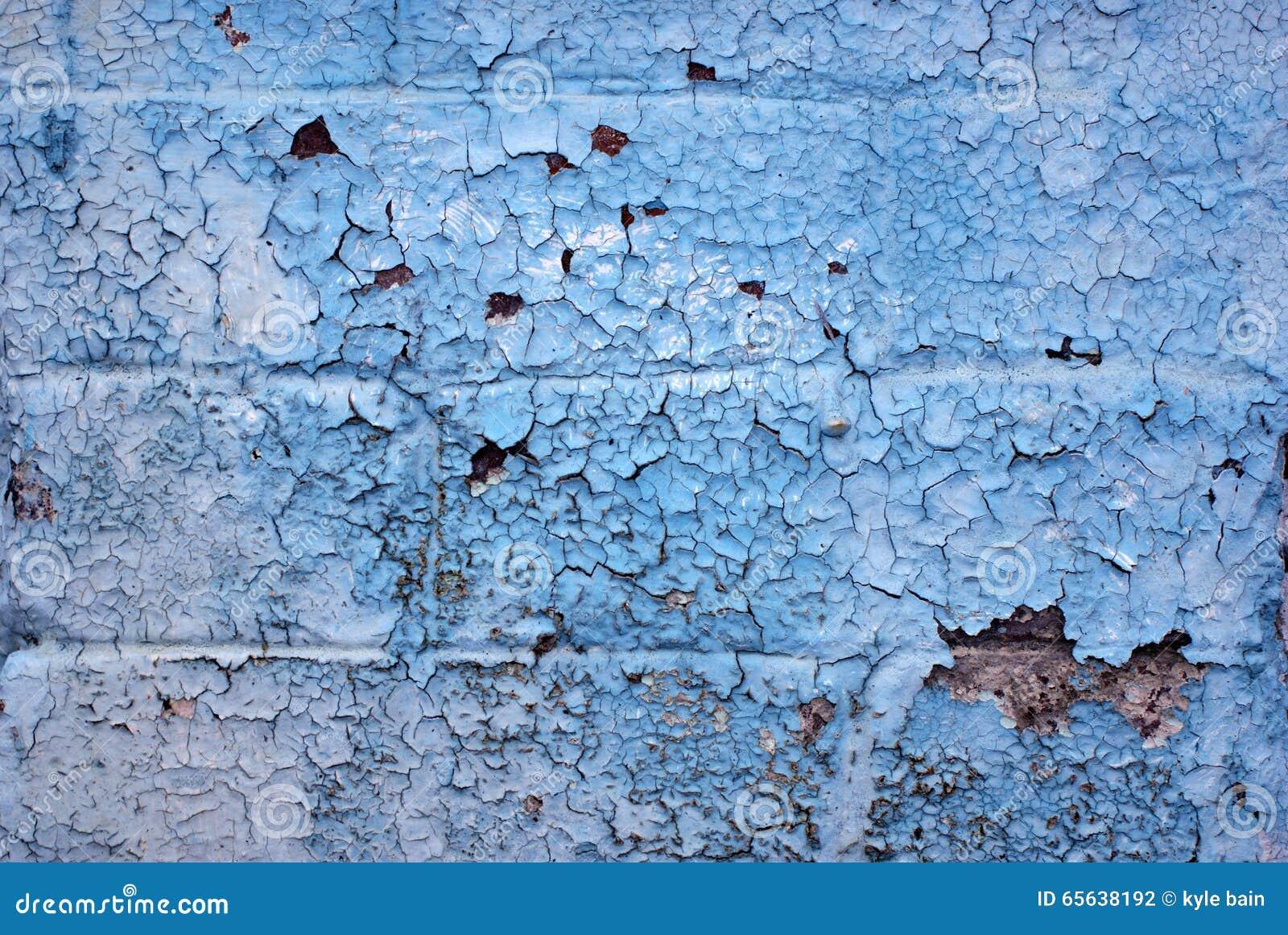 Brique peinte de bleu de ciel