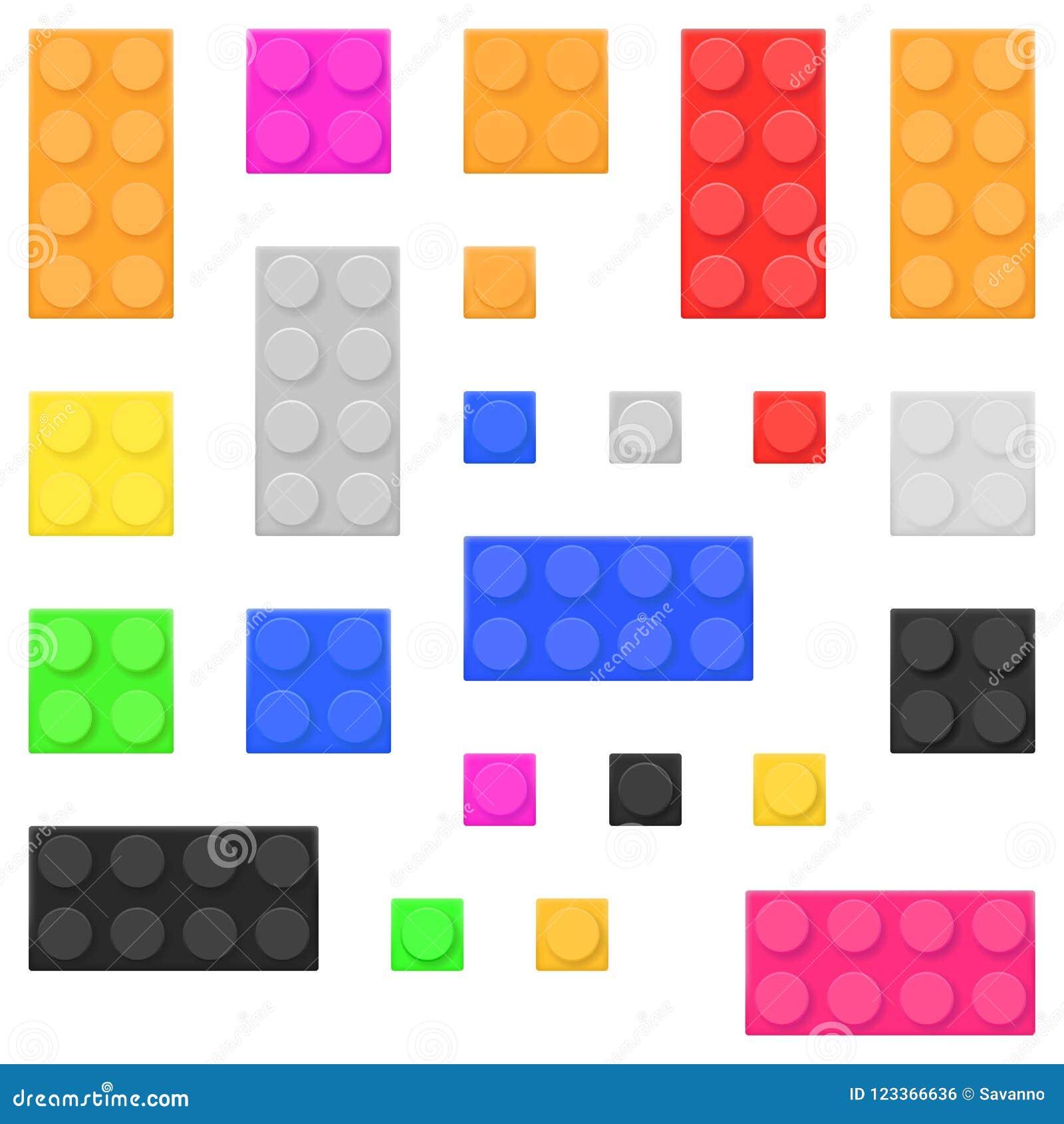 Briques de jouet de construction Blocs constitutifs colorés réglés