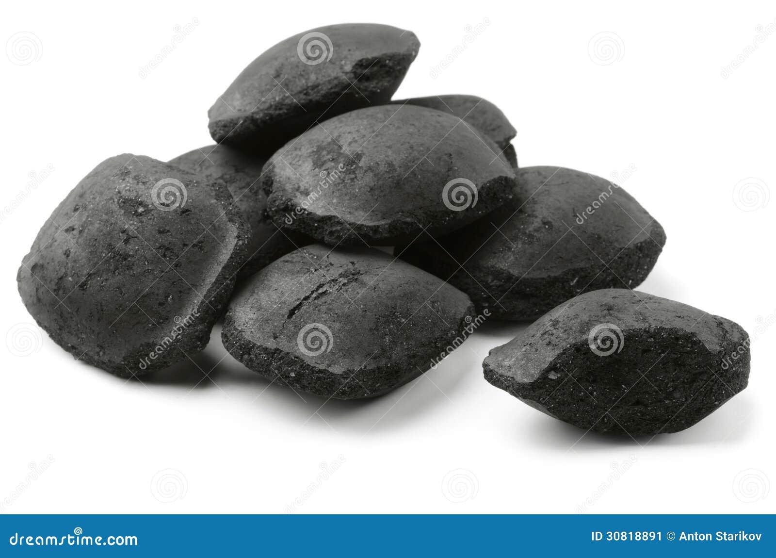 Briquetts do carvão vegetal