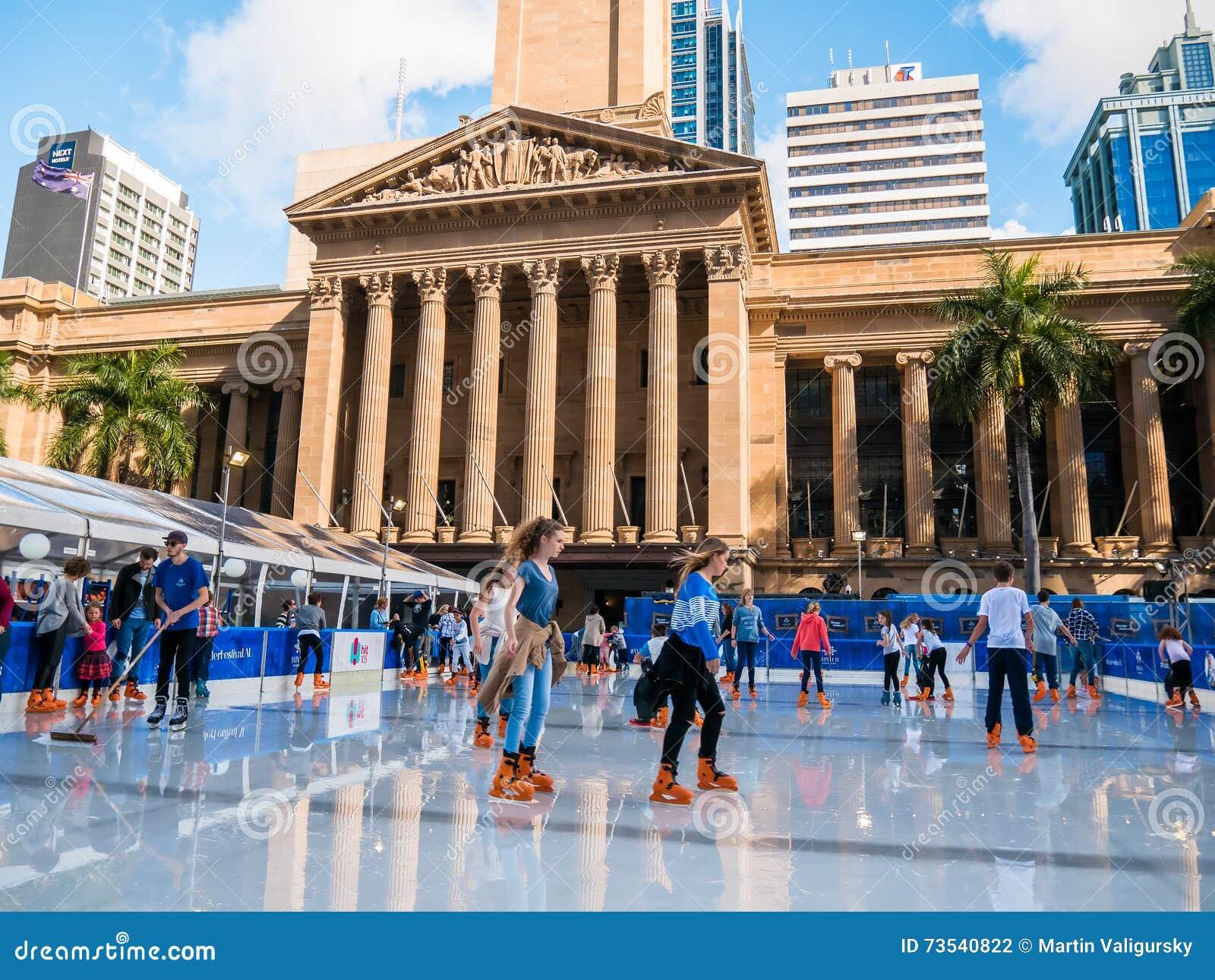 Ice skating brisbane city