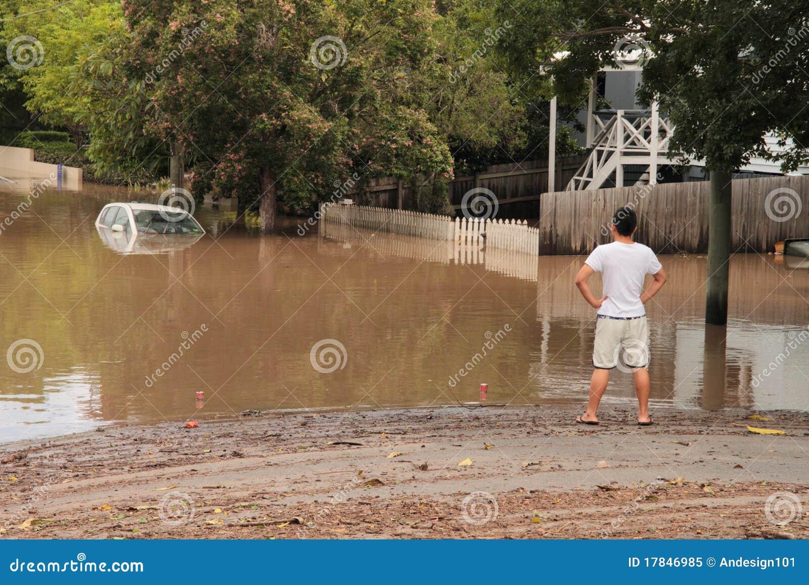 BRISBANE, AUSTRALIË - 13 JANUARI: Vloed